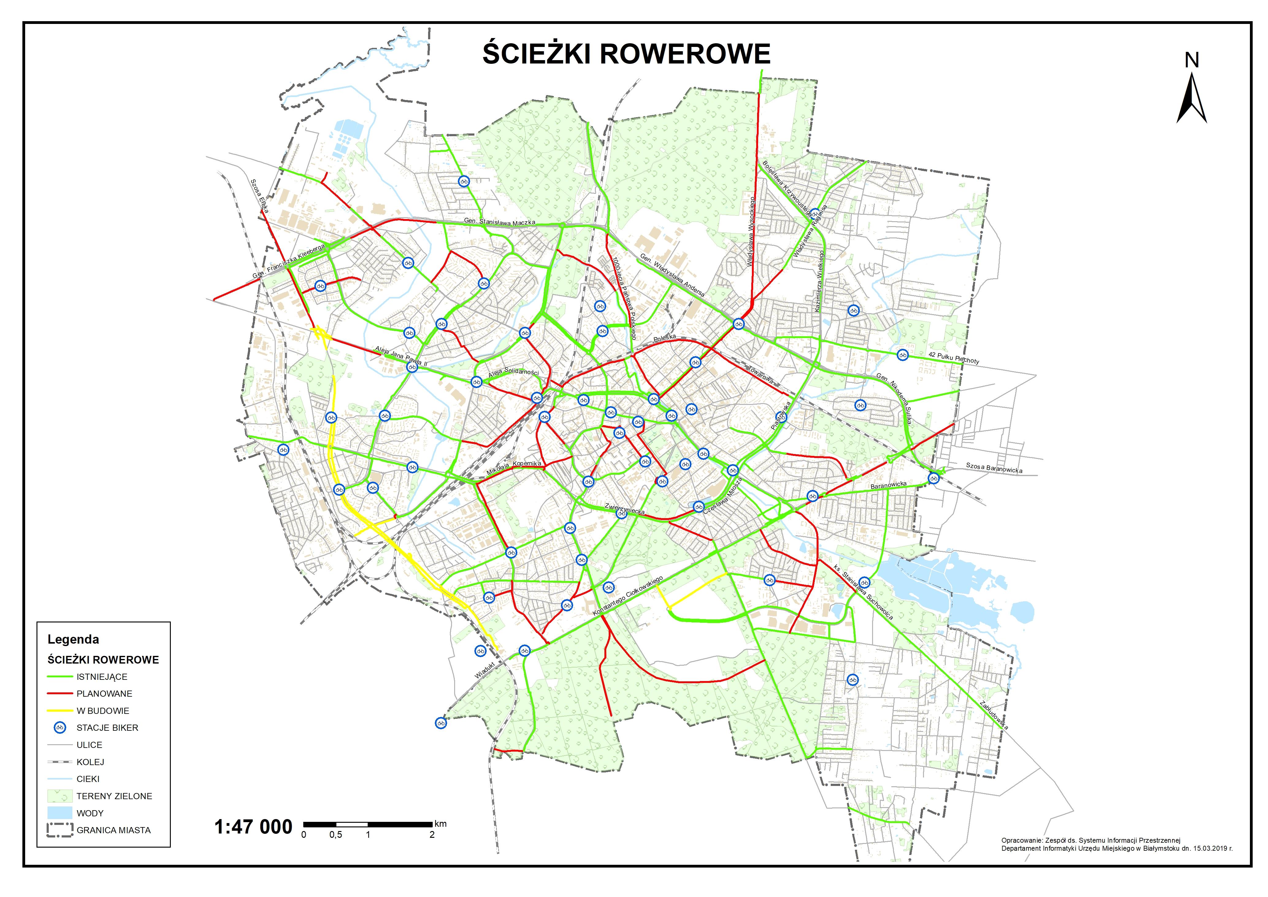 Mapa Sciezek Rowerowych Wschodzacy Bialystok Oficjalny Portal