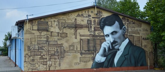 Mural #Tribute to Tesla