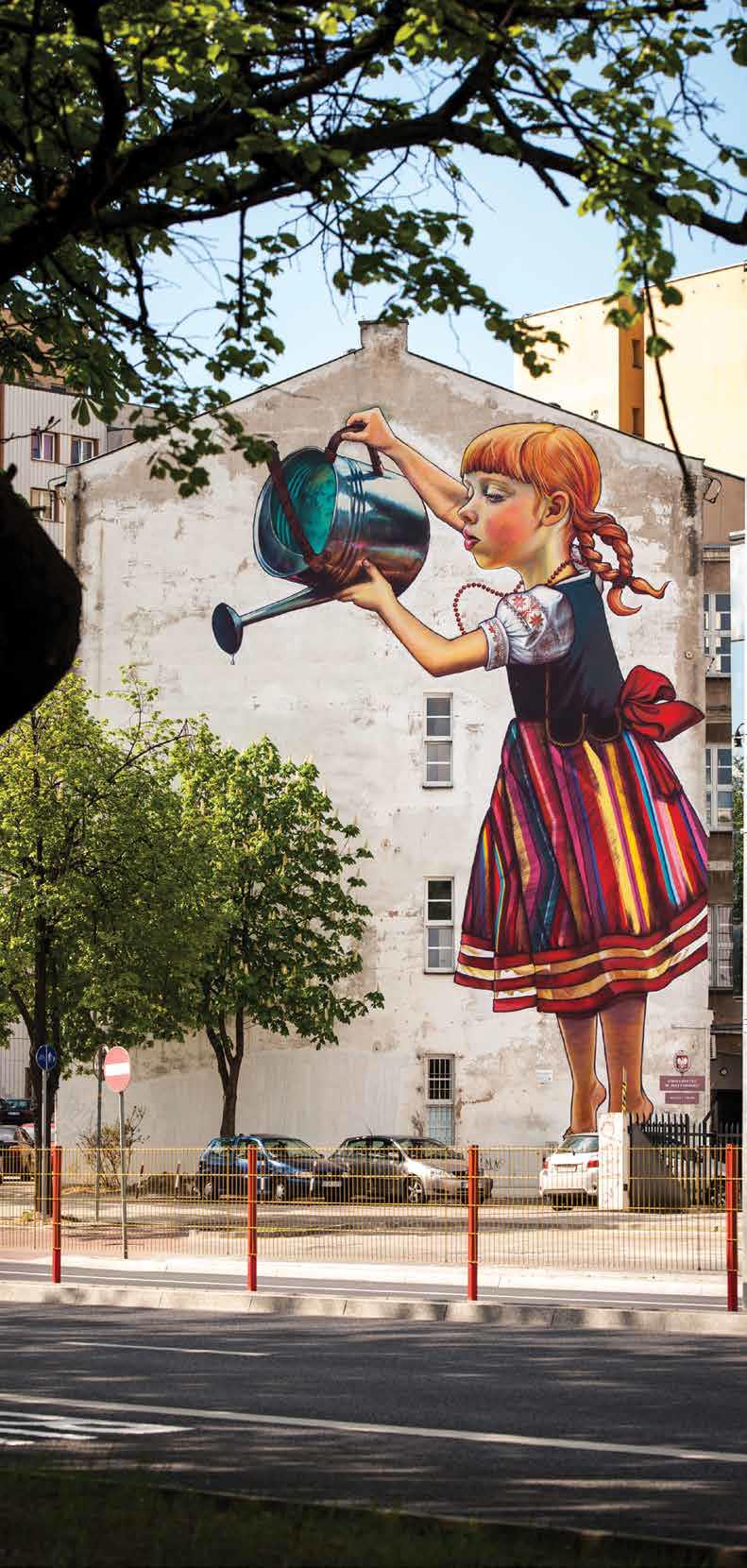 Miasto w obronie dziewczynki z konewk wschodz cy for Mural dziewczynka z konewka