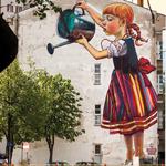O bia ostockich muralach wschodz cy bia ystok for Mural bialystok dziewczynka z konewka