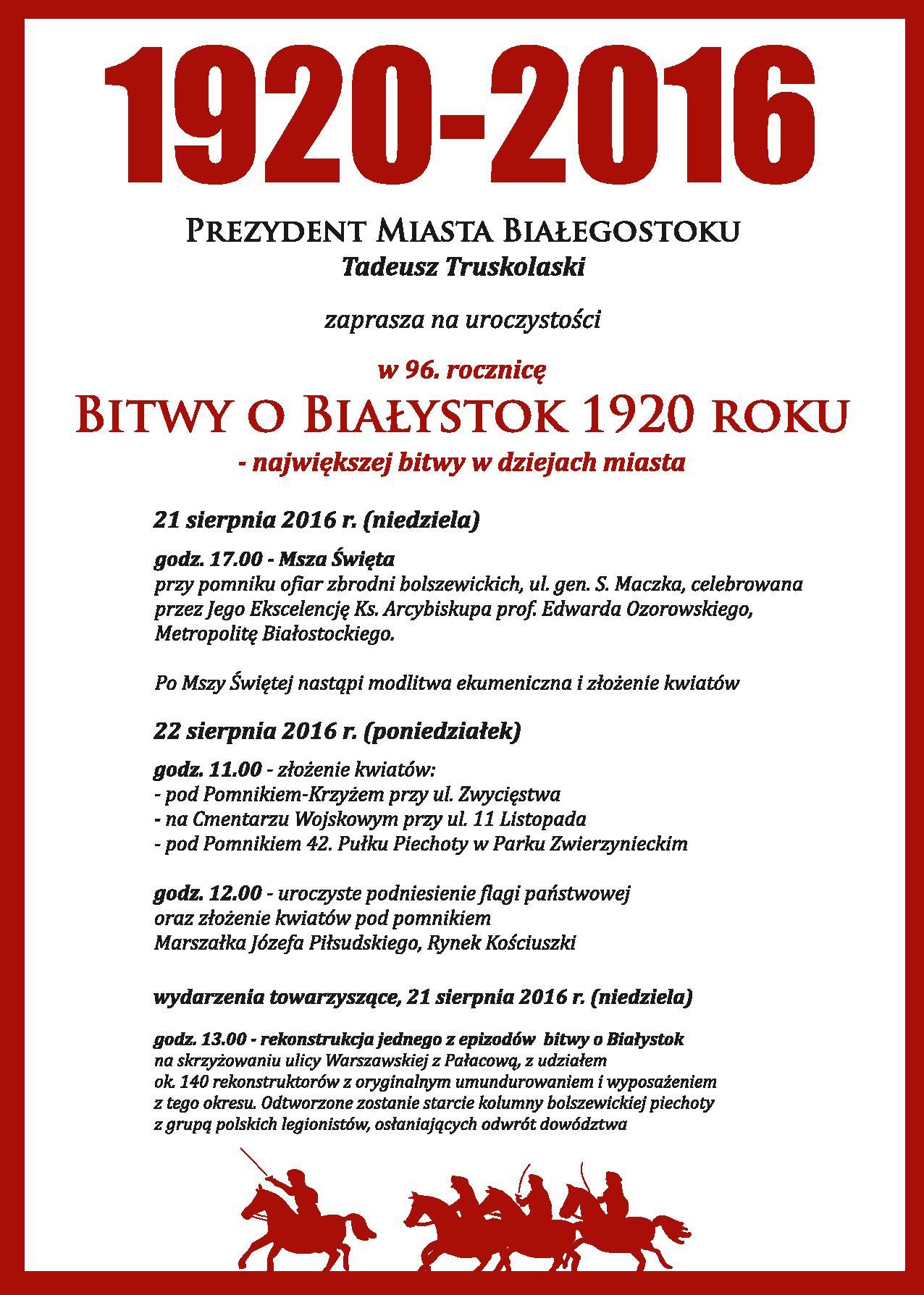 Białystok uczci 96. rocznicę Bitwy o Białystok