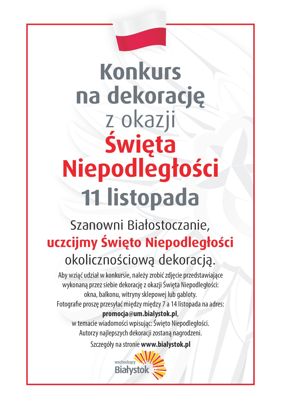Konkurs Na Niepodległościową Witrynę Wschodzący Białystok